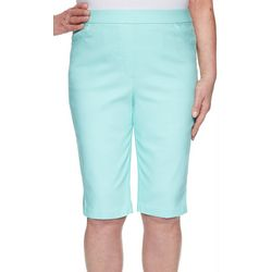 Alfred Dunner Womens Stretchy Basic Bermuda Shorts