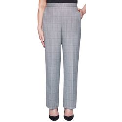 Alfred Dunner Womens Plaid Pull On Pants
