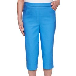 Alfred Dunner Womens Allure Solid Capris