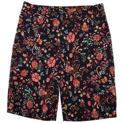 Coral Bay Womens Floral Print Skimmer Shorts