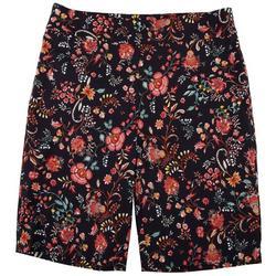 Womens Floral Print Skimmer Shorts