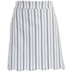 Coral Bay Womens Scalloped Striped Skort