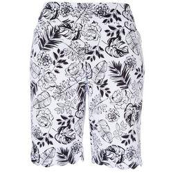 Coral Bay Womens Roses Scalloped Hem Shorts