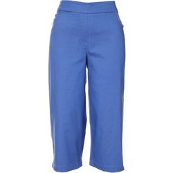Womens Solid Pull On Capris