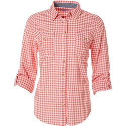 Victory Sportswear Womens Gingham Long Sleeve Shirt