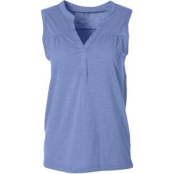Victory Sportswear Womens Solid Y Collar Tank Top