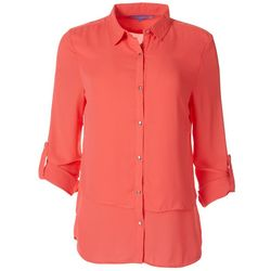 Victory Sportswear Womens Solid Collared Button Down Shirt