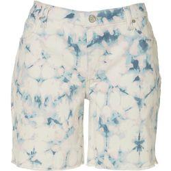 Vintage America Tie-Dye Bermuda Denim Shorts