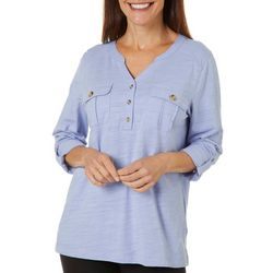 Gloria Vanderbilt Womens Penelope Solid Top