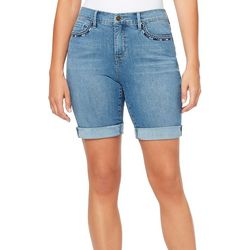 Gloria Vanderbilt Womens Cuffed Whiskered City Shorts