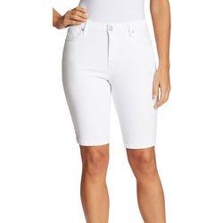 Gloria Vanderbilt Womans Roll Tab Bermuda Shorts