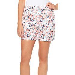 Gloria Vanderbilt Womens Amanda Floral Print Denim Shorts