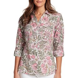 Gloria Vanderbilt Womens Cassidy Morning Garden Top