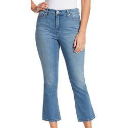 Womens Flare Leg Crop Jeans