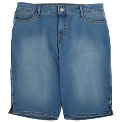 Gloria Vanderbilt Womens Denim Bermuda Shorts