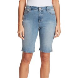 Gloria Vanderbilt Womens Solid Color Bermuda Shorts