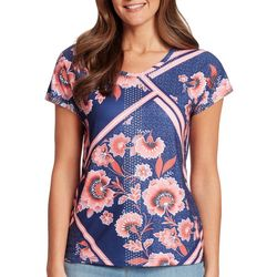 Gloria Vanderbilt Womens Opal Floral Tile Top