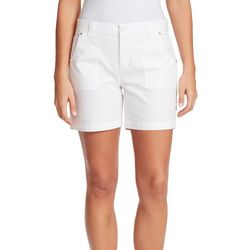 Gloria Vanderbilt Womens Solid Patch Pocket Shorts