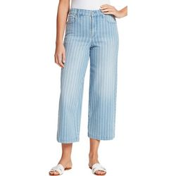 Womens Amanda Striped Wide leg Jeans