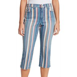 Gloria Vanderbilt Womens Amanda Striped Capris