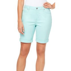 Gloria Vanderbilt Womens Solid City Shorts