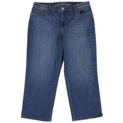 Gloria Vanderbilt Womens Modern Straight Leg Crop Jeans