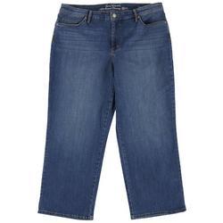 Womens Modern Straight Leg Crop Jeans