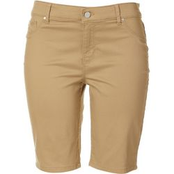 Gloria Vanderbilt Womens Solid Twill Bermuda Shorts
