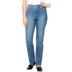 Gloria Vanderbilt Amanda Twill Tapered Leg Jeans