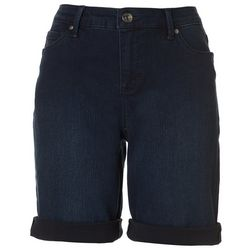 Gloria Vanderbilt Womens All-Around Slimming Denim Shorts