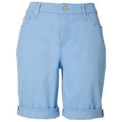 Gloria Vanderbilt Womens All-Around Slimming Solid Shorts