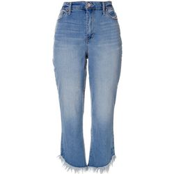 Nine West Womens Sophia High Waist Capri Denim Jeans