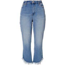 Nine West Womens Sophia High Waist Capri Denim Jeans