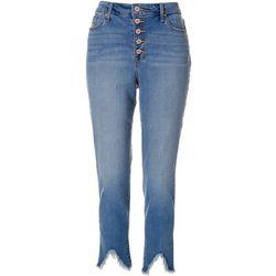Nine West Womens Sophia High Waist Ankle Denim Jeans