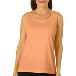 Womens Solid Scoop Neck Tank Top