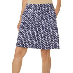 Coral Bay Energy Womens Palm Tree Print Skort