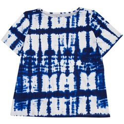 Coral Bay Womens Vibrant Tie-Dye Short Sleeve Top