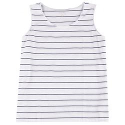 Coral Bay Womens Striped Everyday Sleeveless Top