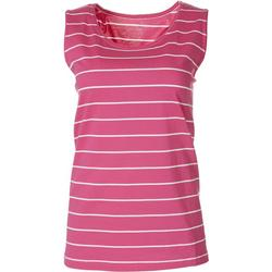 Womens Striped Everyday Sleeveless Top