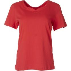 Womens Solid Sweetheart Top
