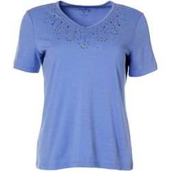 Womens V-neck Cascade Top