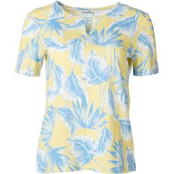 Coral Bay Womens Crisscross Keyhole Palm Frond Top