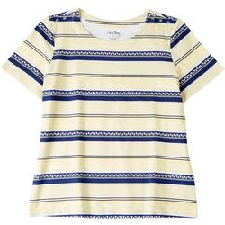 Womens Boat Stripes Short Sleeve Top