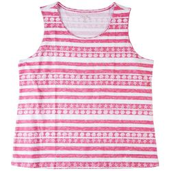 Coral Bay Womens Shells & Stripes Tank Top