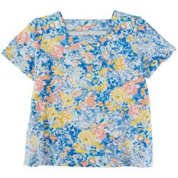 Womens Watercolor Floral Top