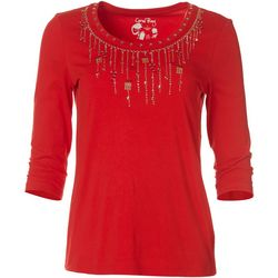Coral Bay Womens Three Quarter Xmas Cascade Top