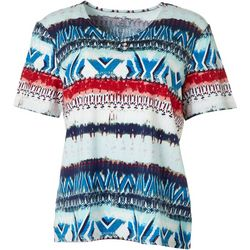 Coral Bay Womens Biadere Short Sleeve Top