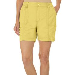 Fresh Womens Solid Knit Waist Shorts
