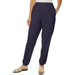 Coral Bay Womens Fleece Solid Pull On Pants