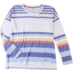 Silverwear Womens Striped Pocket Top